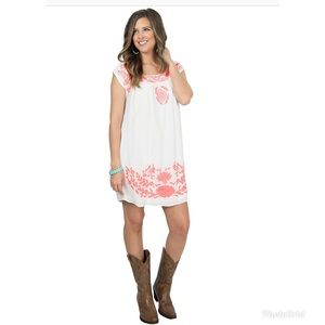 Ariat western style embroidered dress